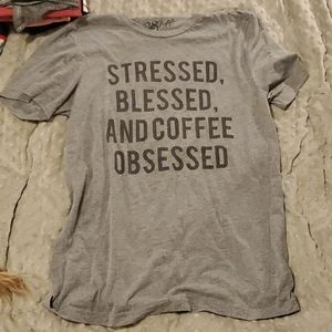 Graphic tee - stressed blessed & coffee obsessed